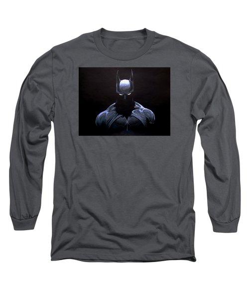 Dark Knight Long Sleeve T-Shirt by Marcus Quinn
