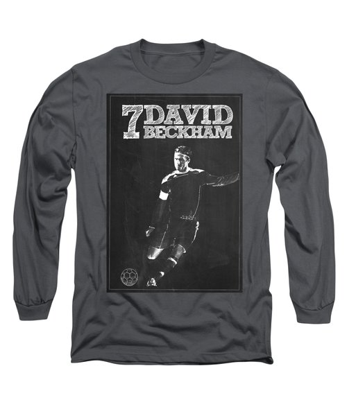 David Beckham Long Sleeve T-Shirt by Semih Yurdabak