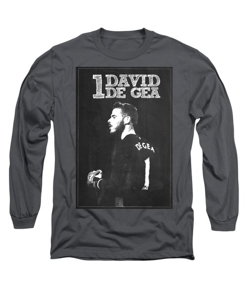 David De Gea Long Sleeve T-Shirt by Semih Yurdabak