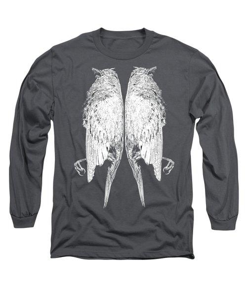 Dead Birds Tee White Long Sleeve T-Shirt by Edward Fielding