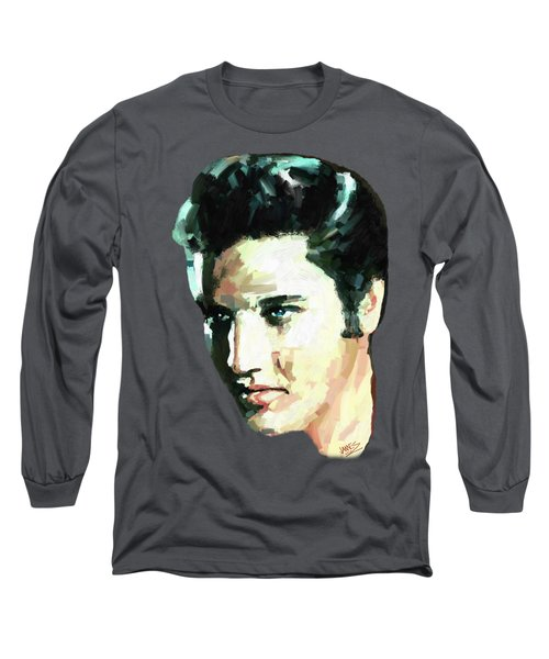 Elvis Long Sleeve T-Shirt by James Shepherd