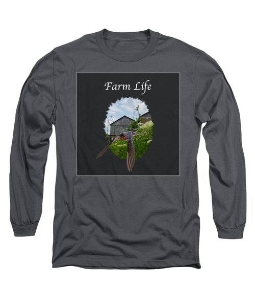 Farm Life Long Sleeve T-Shirt by Jan M Holden