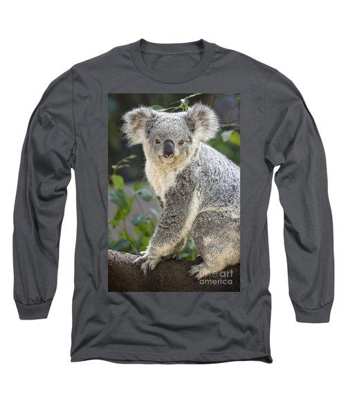 Female Koala Long Sleeve T-Shirt by Jamie Pham