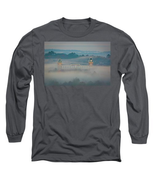 Fog At Old Main Long Sleeve T-Shirt by Damon Shaw