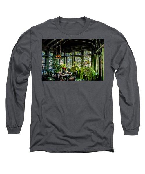 Glensheen Mansion Breakfast Room Long Sleeve T-Shirt by Paul Freidlund