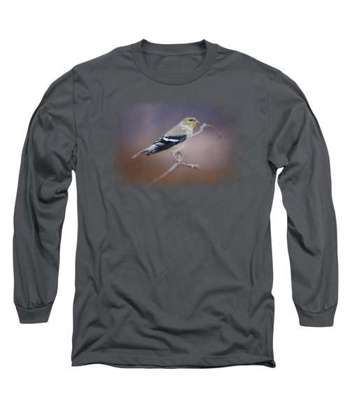 Goldfinch In The Light Long Sleeve T-Shirt by Jai Johnson