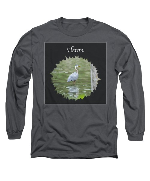 Heron Long Sleeve T-Shirt by Jan M Holden