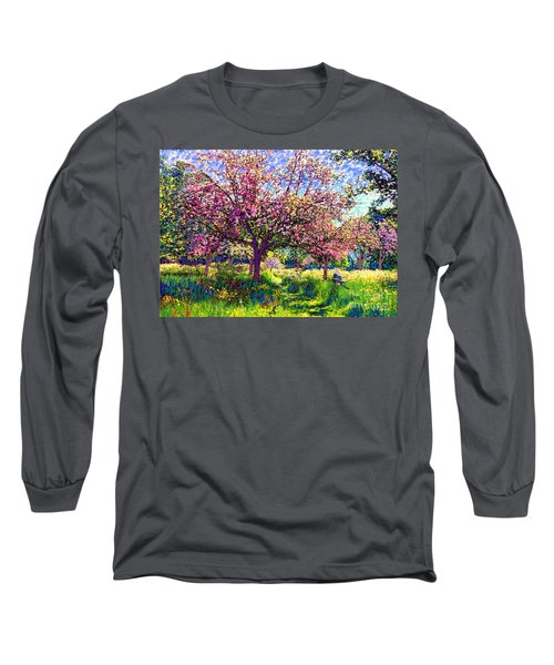 In Love With Spring, Blossom Trees Long Sleeve T-Shirt by Jane Small