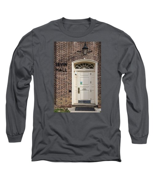 Irvin Hall Penn State  Long Sleeve T-Shirt by John McGraw