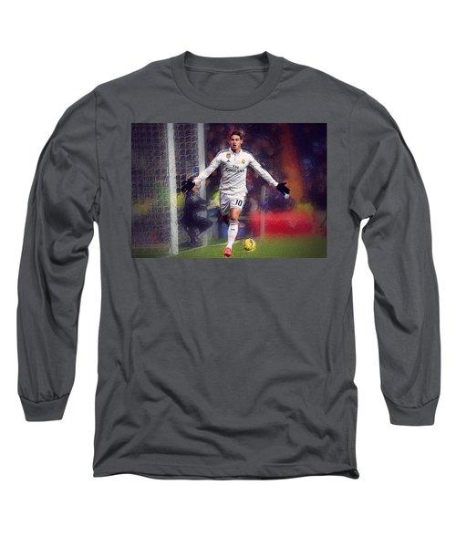James Rodrigez Long Sleeve T-Shirt by Semih Yurdabak