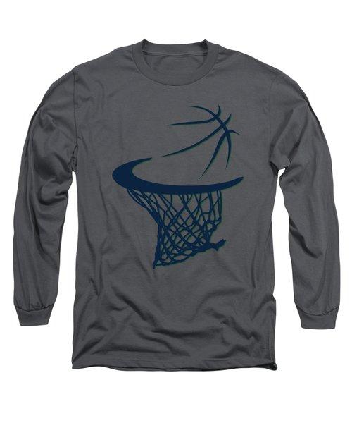 Jazz Basketball Hoop Long Sleeve T-Shirt by Joe Hamilton