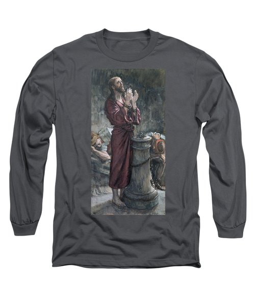 Jesus In Prison Long Sleeve T-Shirt by Tissot
