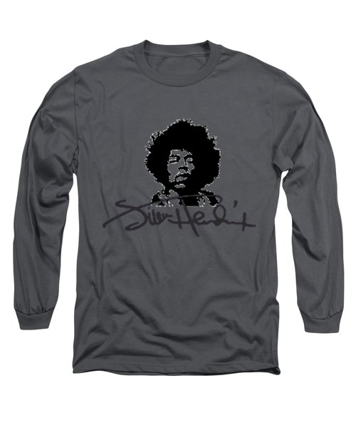 Jimi Hendrix Purple Haze Long Sleeve T-Shirt by David Dehner