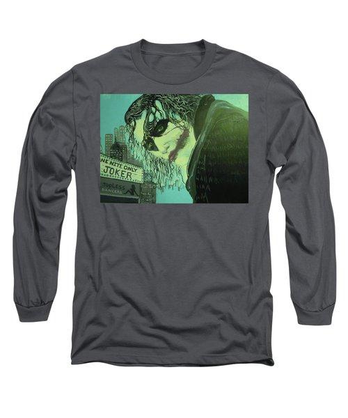Joker Long Sleeve T-Shirt by Scott Murphy