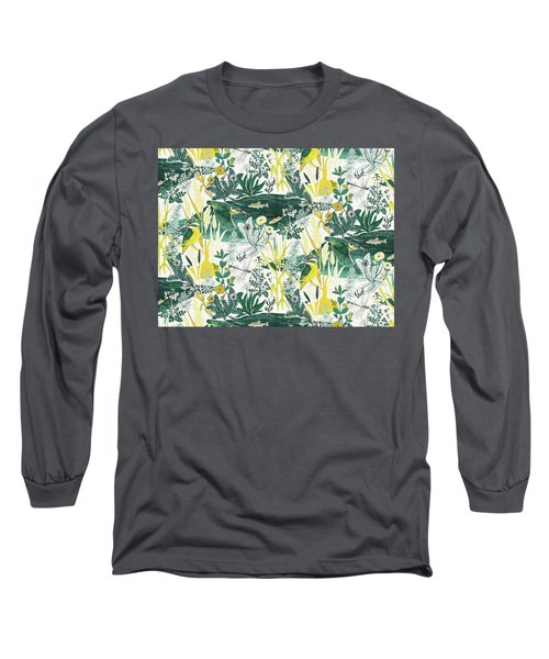 Kingfisher Long Sleeve T-Shirt by Jacqueline Colley