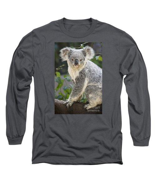 Koala Female Portrait Long Sleeve T-Shirt by Jamie Pham