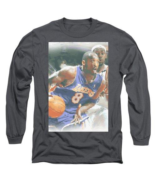 Kobe Bryant Lebron James Long Sleeve T-Shirt by Joe Hamilton