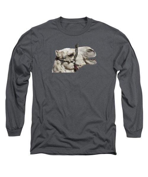 Laughing Camel Long Sleeve T-Shirt by Roy Pedersen