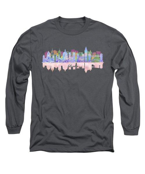 London England Skyline Long Sleeve T-Shirt by John Groves