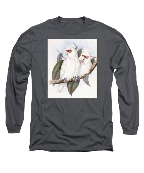 Long-billed Cockatoo Long Sleeve T-Shirt by John Gould