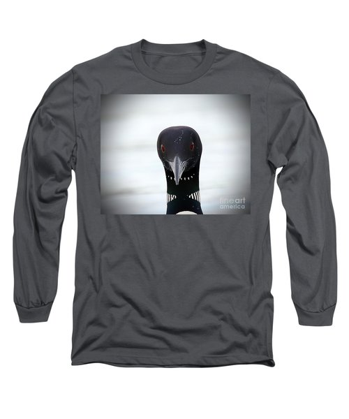 Loon Stare Long Sleeve T-Shirt by Peter Gray