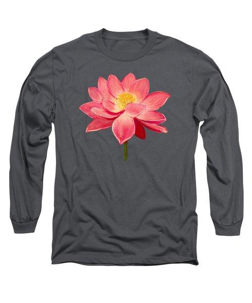 Lotus Flower Long Sleeve T-Shirt by Anastasiya Malakhova