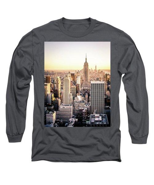 Manhattan Long Sleeve T-Shirt by Michael Weber