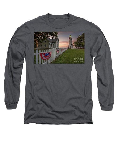 Marblehead Memorial  Long Sleeve T-Shirt by James Dean