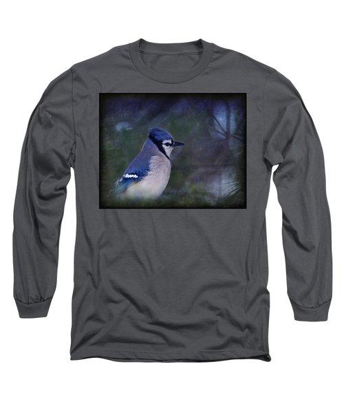 Me Minus You - Blue Long Sleeve T-Shirt by Evelina Kremsdorf