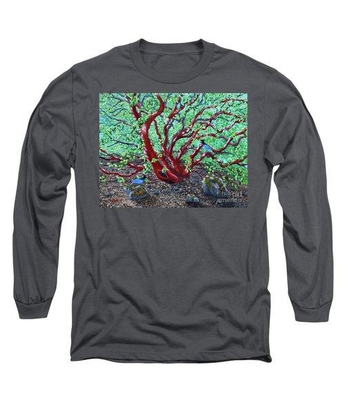 Morning Manzanita Long Sleeve T-Shirt by Laura Iverson