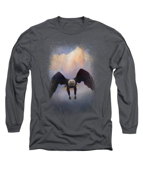 Mountain Flight Long Sleeve T-Shirt by Jai Johnson