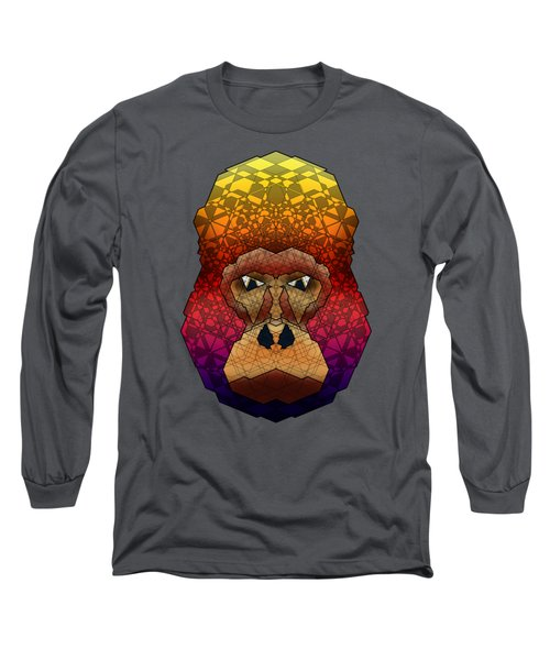 Mountain Gorilla Long Sleeve T-Shirt by Dusty Conley
