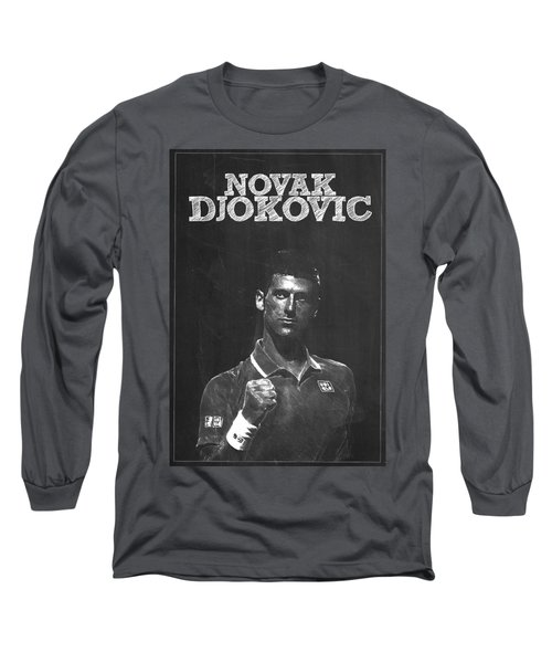 Novak Djokovic Long Sleeve T-Shirt by Semih Yurdabak