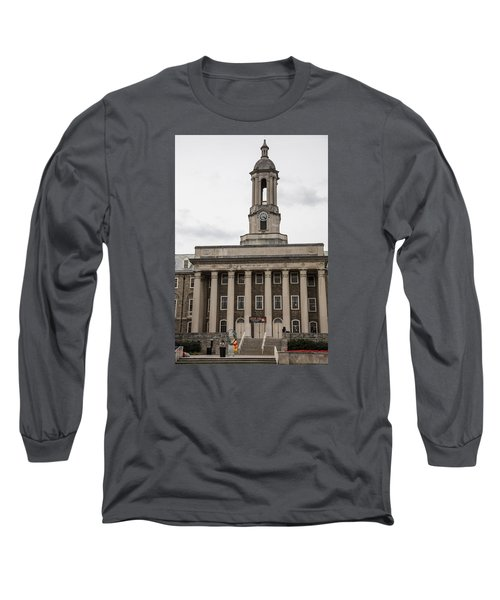 Old Main Penn State From Front  Long Sleeve T-Shirt by John McGraw