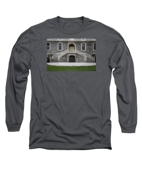 Old Main Penn State Stairs  Long Sleeve T-Shirt by John McGraw