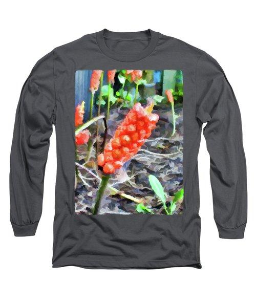 Orange Things In The Corner Long Sleeve T-Shirt by Jackie VanO