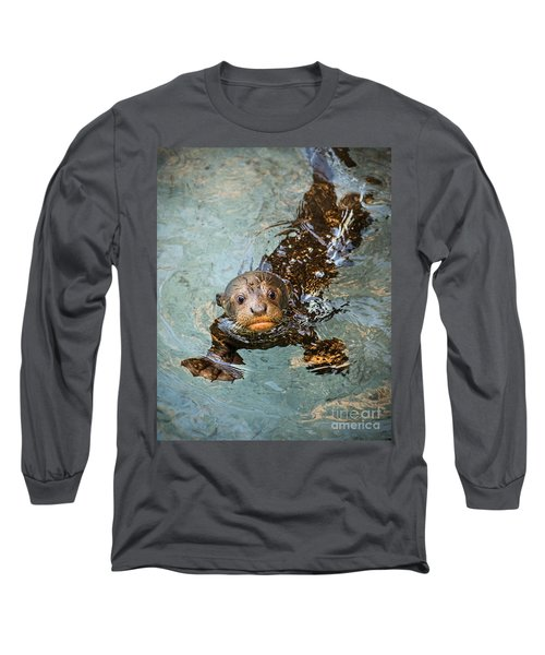 Otter Pup Long Sleeve T-Shirt by Jamie Pham