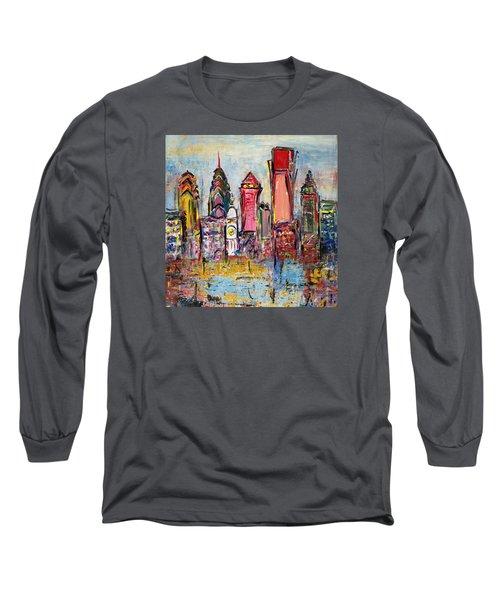 Philadelphia Skyline 232 1 Long Sleeve T-Shirt by Mawra Tahreem