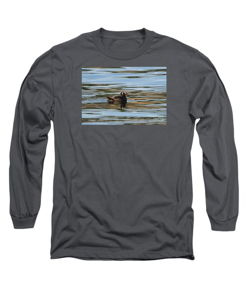 Puffin Reflected Long Sleeve T-Shirt by Mike Dawson