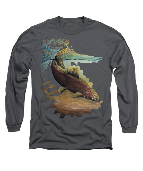 Rainbow Trout Trans Long Sleeve T-Shirt by Kimberly Benedict