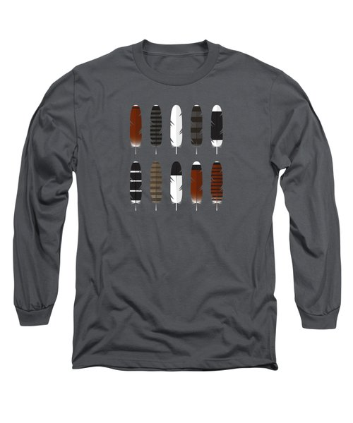 Raptor Feathers - Square Long Sleeve T-Shirt by Peter Green
