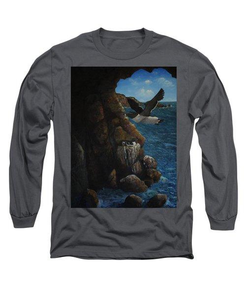 Razorbills Long Sleeve T-Shirt by Eric Petrie