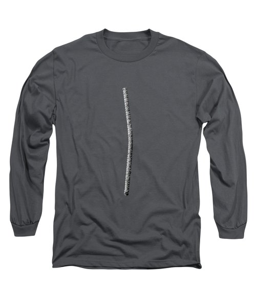 Rebar On Wood Bw Long Sleeve T-Shirt by YoPedro