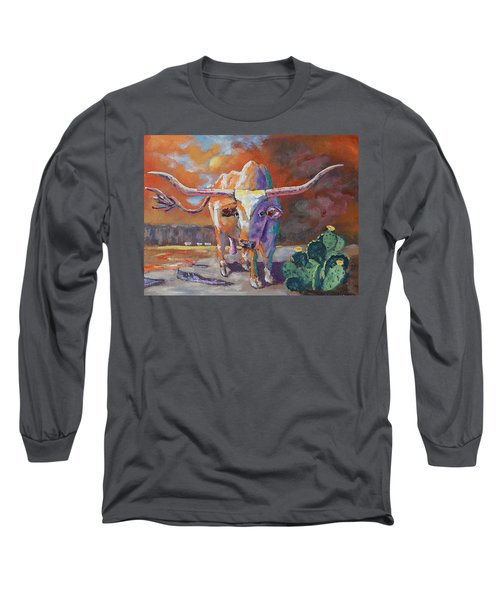 Red River Showdown Long Sleeve T-Shirt by J P Childress