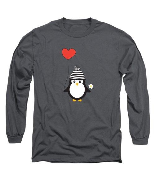 Romeo The Penguin Long Sleeve T-Shirt by Natalie Kinnear