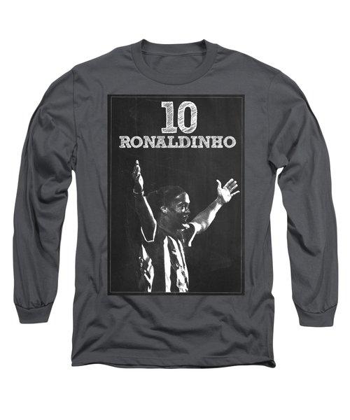 Ronaldinho Long Sleeve T-Shirt by Semih Yurdabak