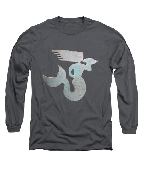 Sea Shell Mermaid Long Sleeve T-Shirt by Dale Powell