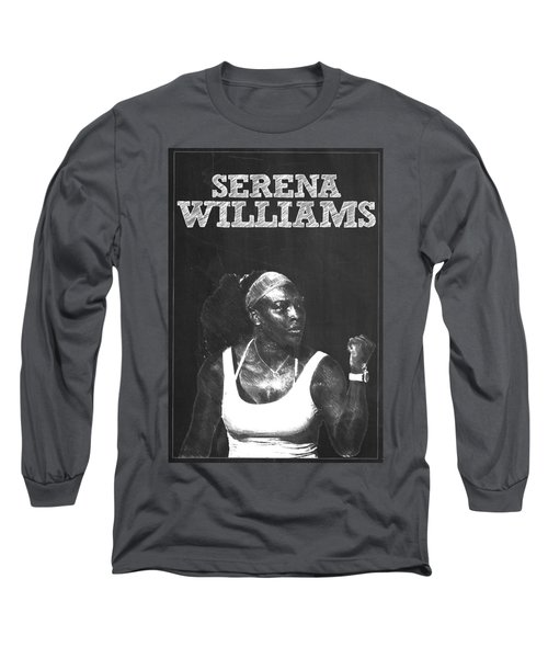 Serena Williams Long Sleeve T-Shirt by Semih Yurdabak