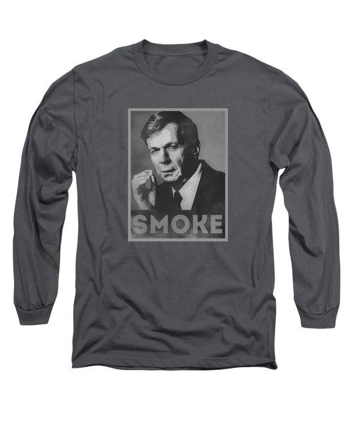 Smoke Funny Obama Hope Parody Smoking Man Long Sleeve T-Shirt by Philipp Rietz