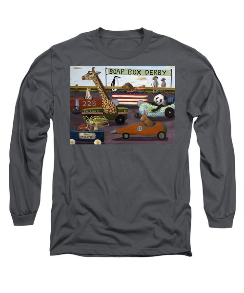 Soap Box Derby Long Sleeve T-Shirt by Leah Saulnier The Painting Maniac